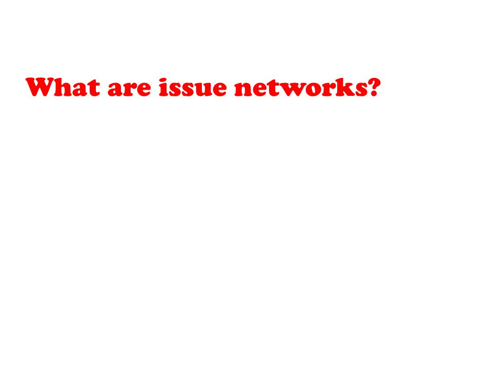 What are issue networks