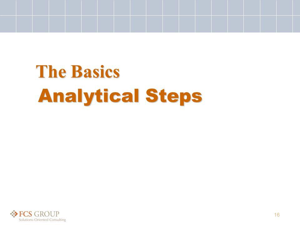 16 Analytical Steps The Basics