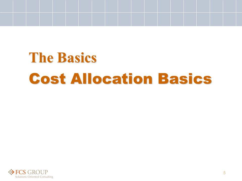 5 Cost Allocation Basics The Basics