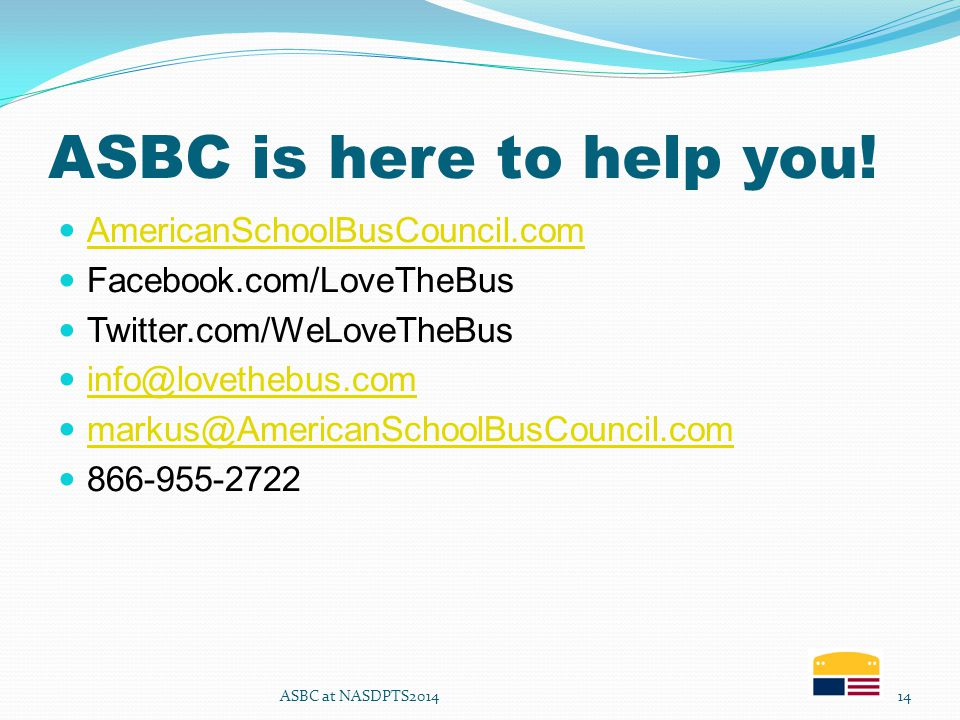 ASBC is here to help you.