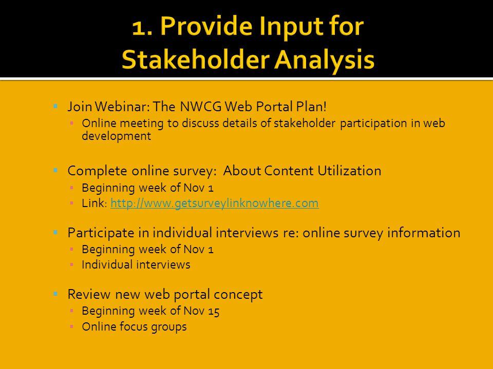  Join Webinar: The NWCG Web Portal Plan.