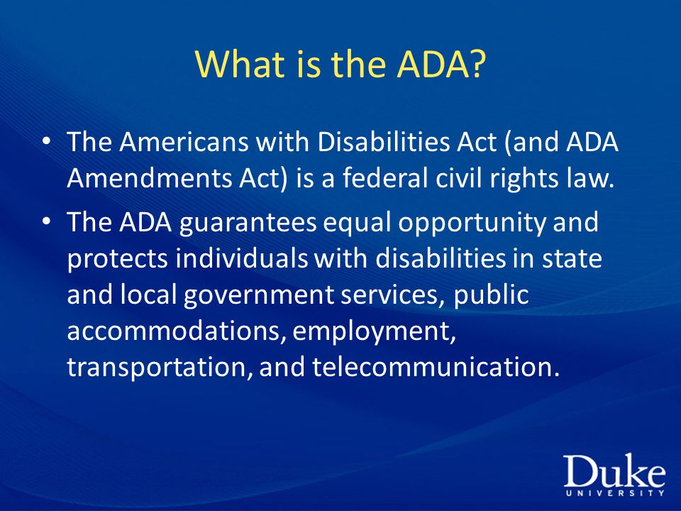 What is the ADA.