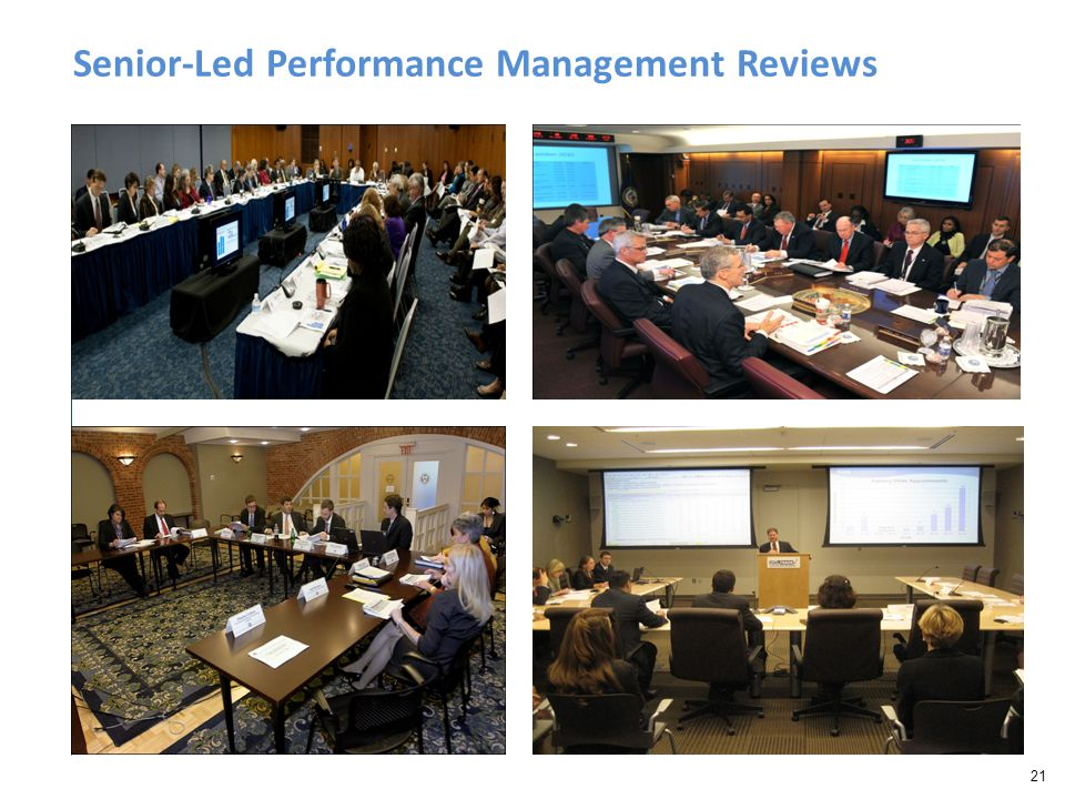 21 Senior-Led Performance Management Reviews