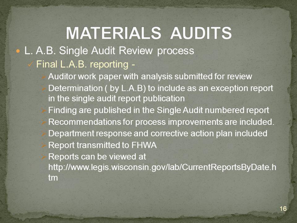 L. A.B. Single Audit Review process Final L.A.B.