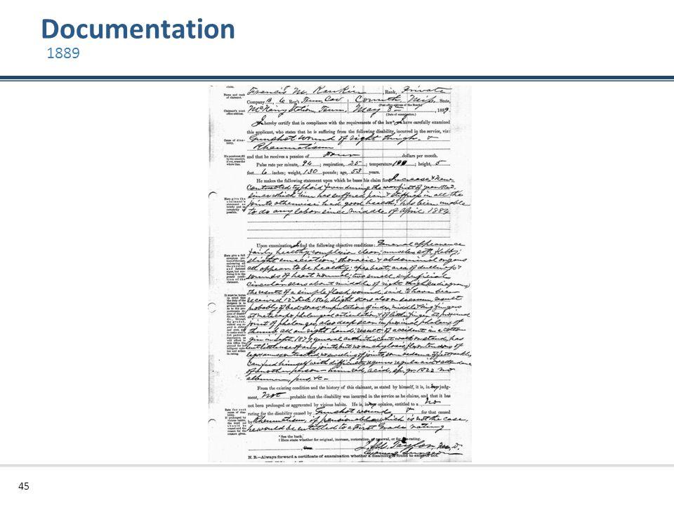 Documentation 45 1889