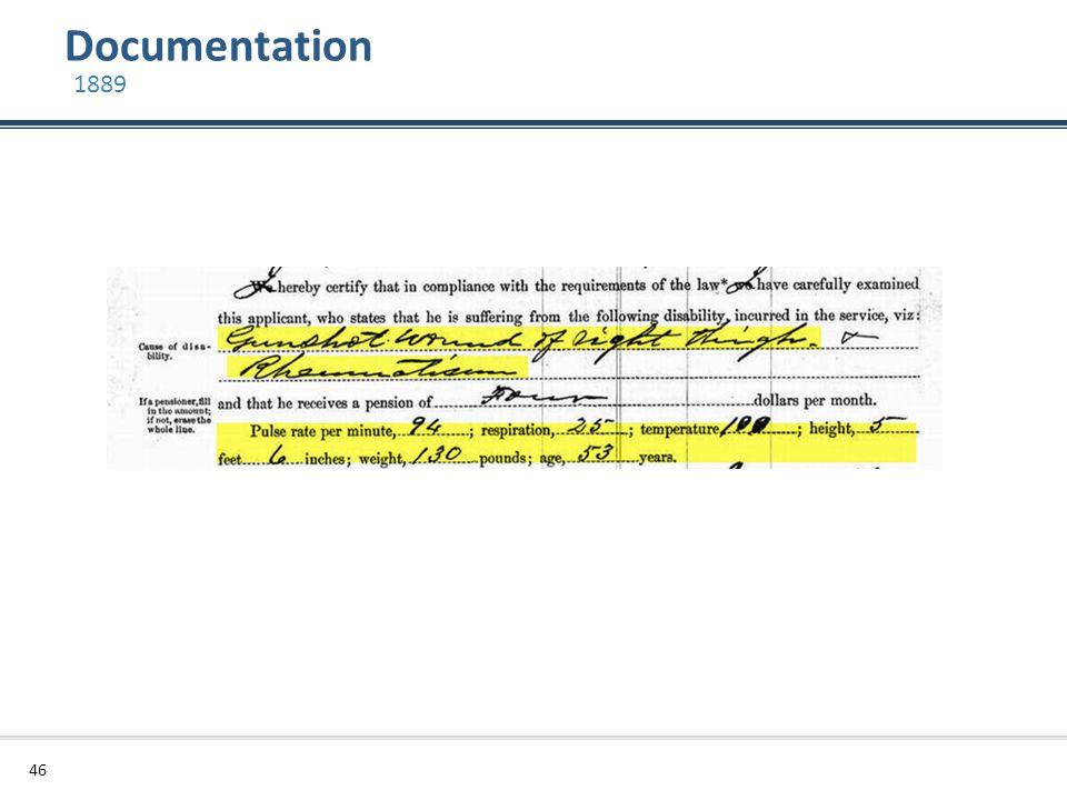 Documentation 46 1889