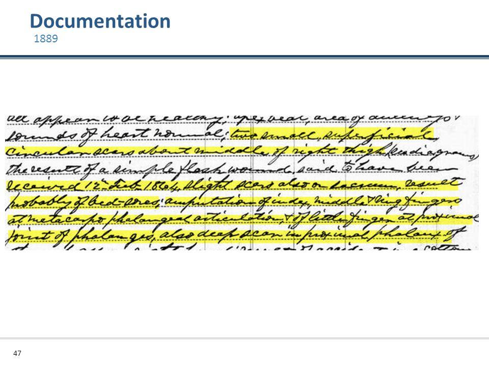 Documentation 47 1889