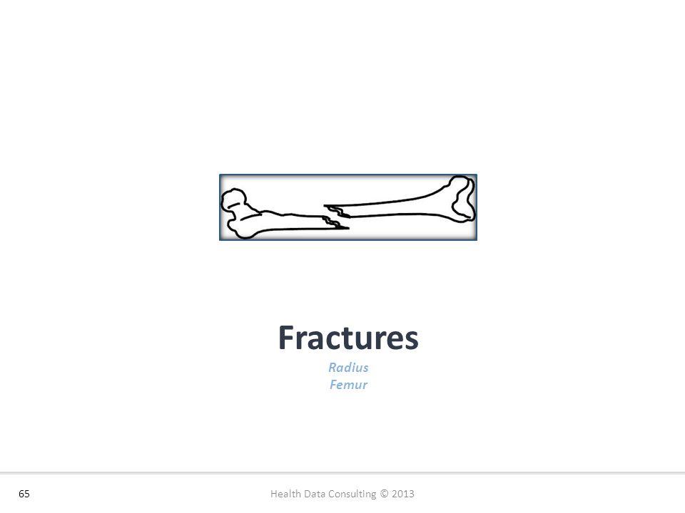Fractures Radius Femur 65 Source: Health Data Consulting Health Data Consulting © 2013