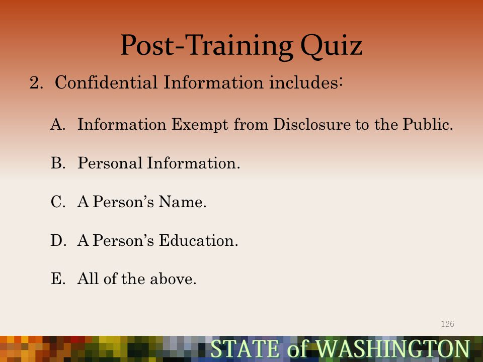 Post-Training Quiz 2.