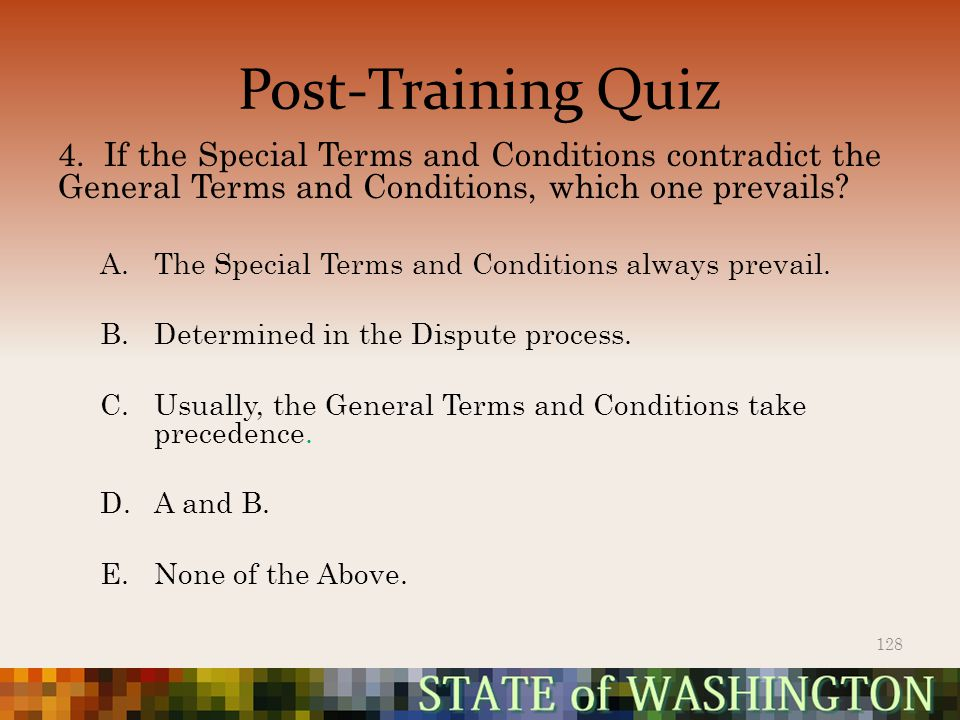 Post-Training Quiz 4.