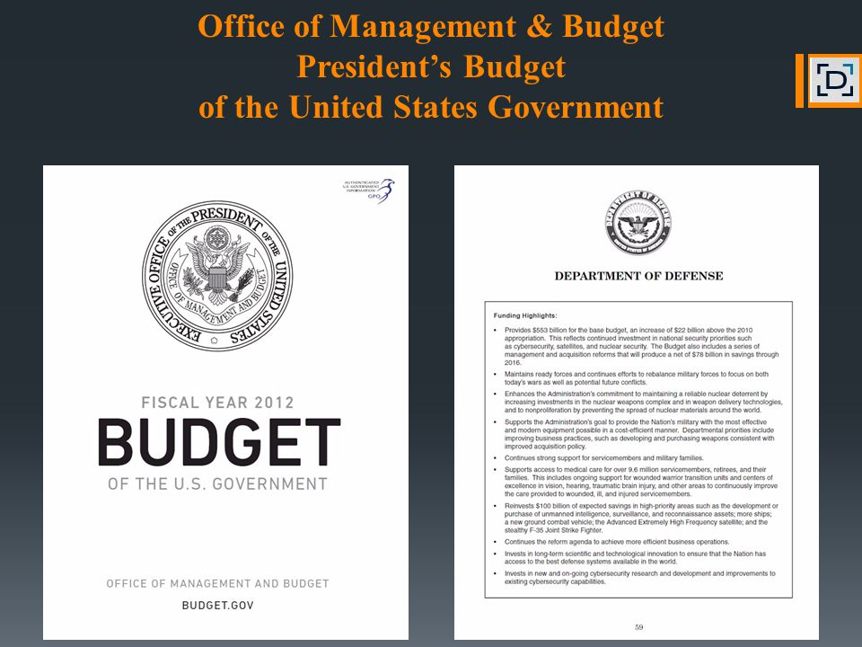 Office of Management & Budget President's Budget of the United States Government