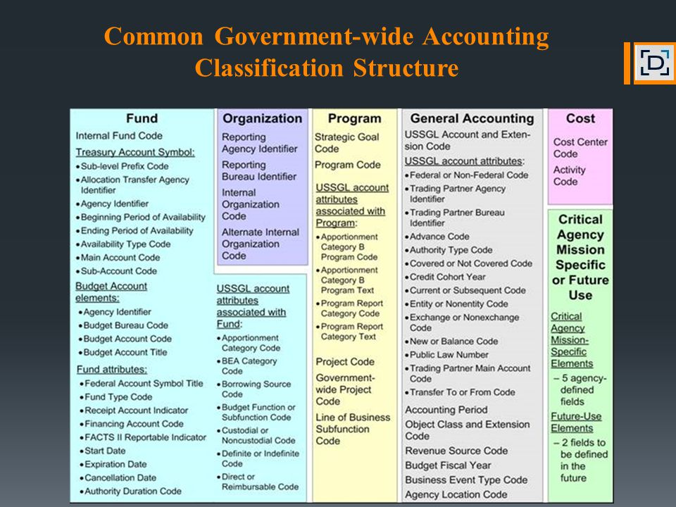 Common Government-wide Accounting Classification Structure