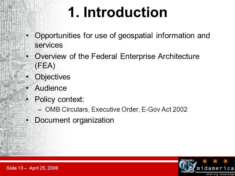 Slide 13 -- April 25, 2006 1.