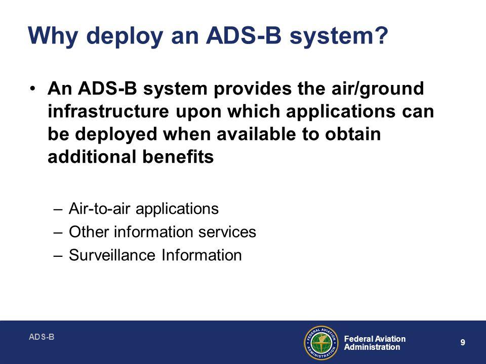 ADS-B 30 Federal Aviation Administration Backup