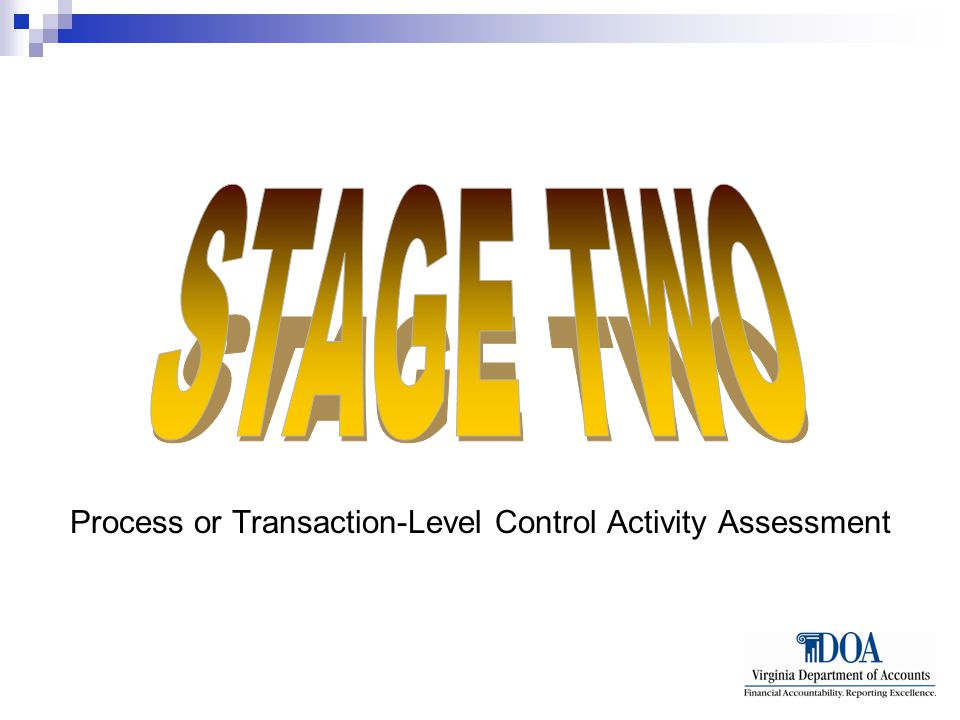 Process or Transaction-Level Control Activity Assessment