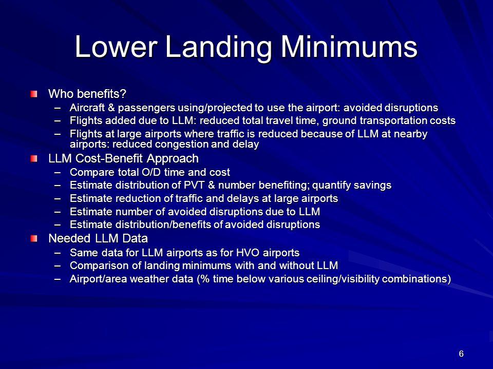 6 Lower Landing Minimums Who benefits.