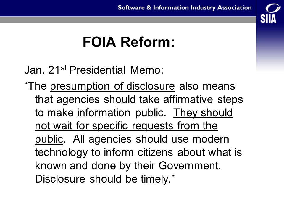FOIA Reform: Jan.