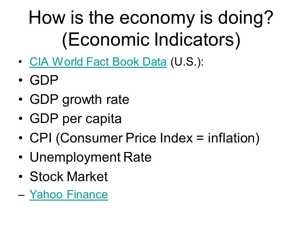 How is the economy is doing.