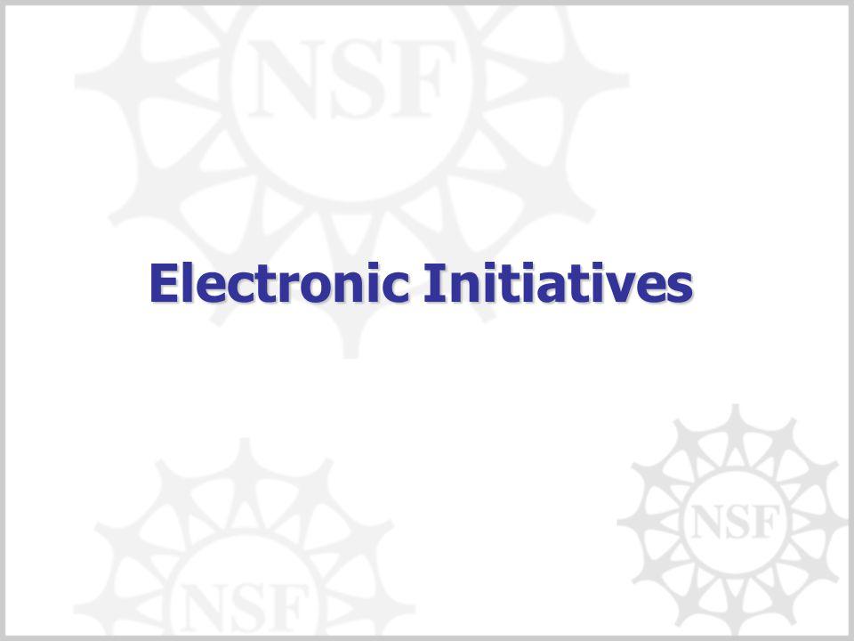 Electronic Initiatives
