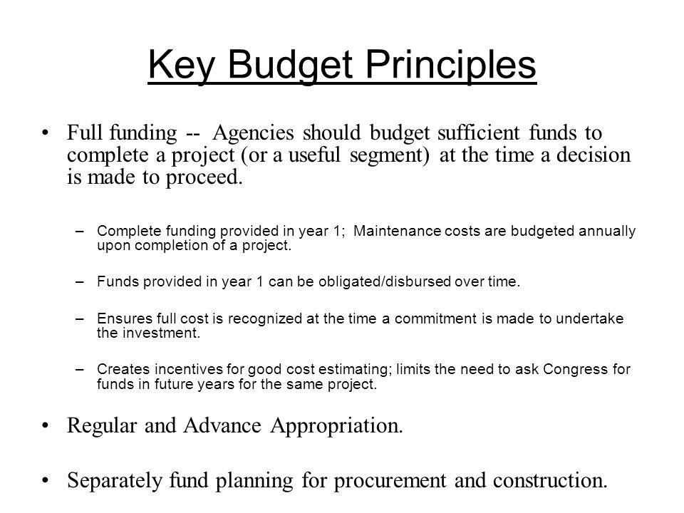 Pitfalls of Capital Budgeting in U.S.Agencies don't always follow budgeting principles.