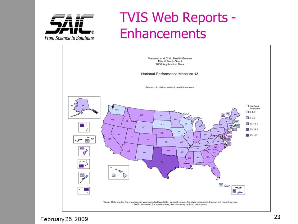February 25, 2009 23 TVIS Web Reports - Enhancements