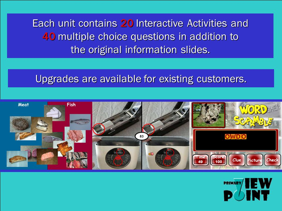This demonstration disk includes 20 interactive activities.