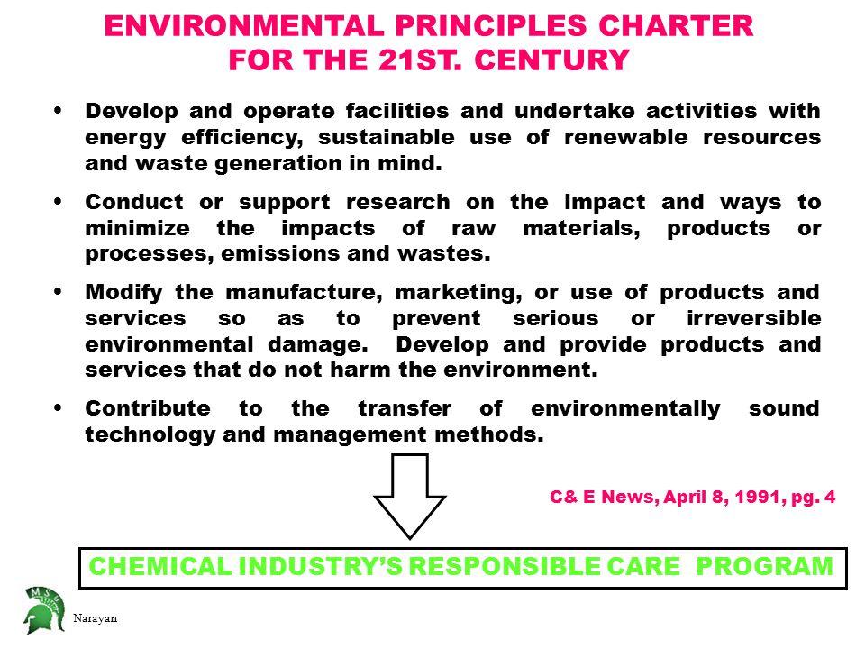 Narayan ENVIRONMENTAL PRINCIPLES CHARTER FOR THE 21ST.