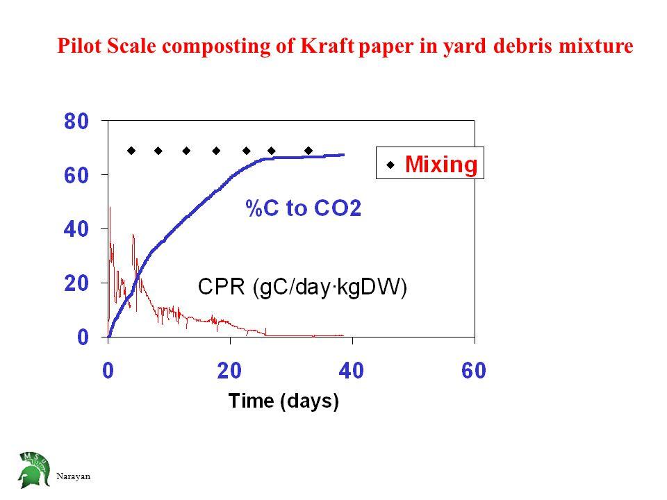 Narayan Pilot Scale composting of Kraft paper in yard debris mixture