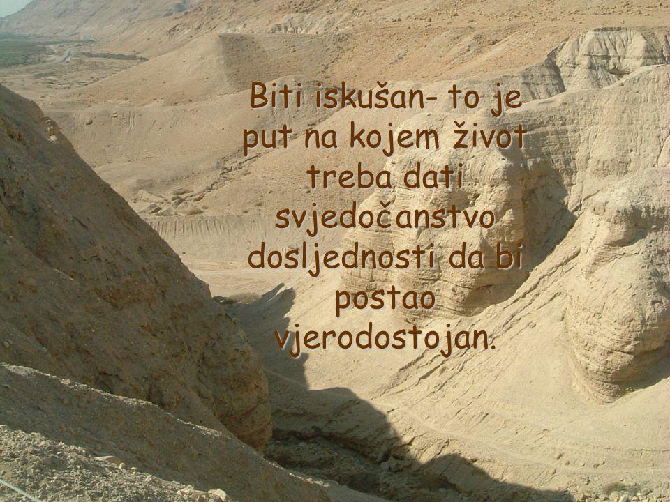 Pisano je također: Ne iskušavaj Gospodina, Boga svojega!