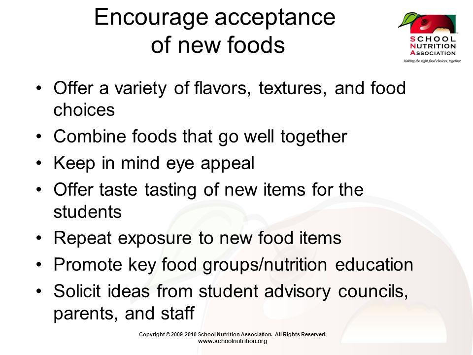 Copyright © 2009-2010 School Nutrition Association.