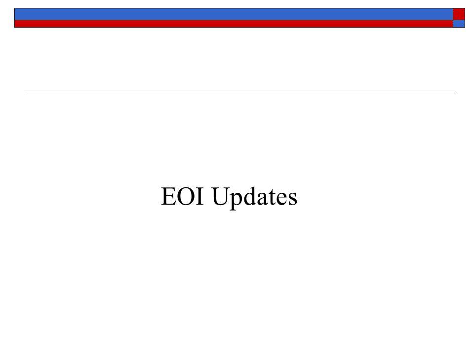 EOI Updates
