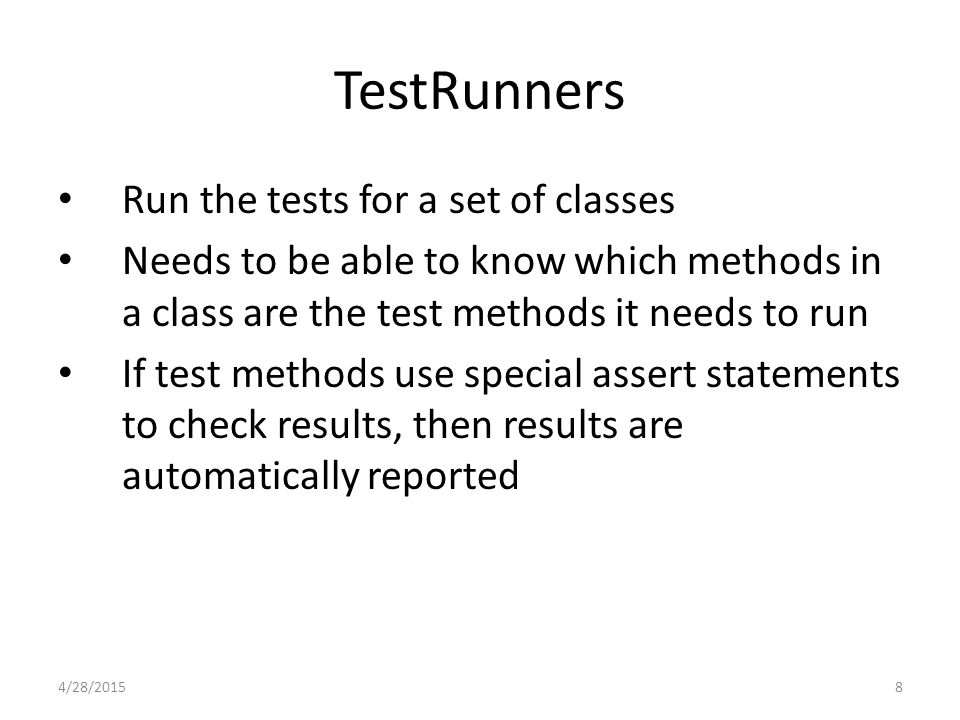 19 DataBase Testing Why not simply test the DB in the context of the whole system.