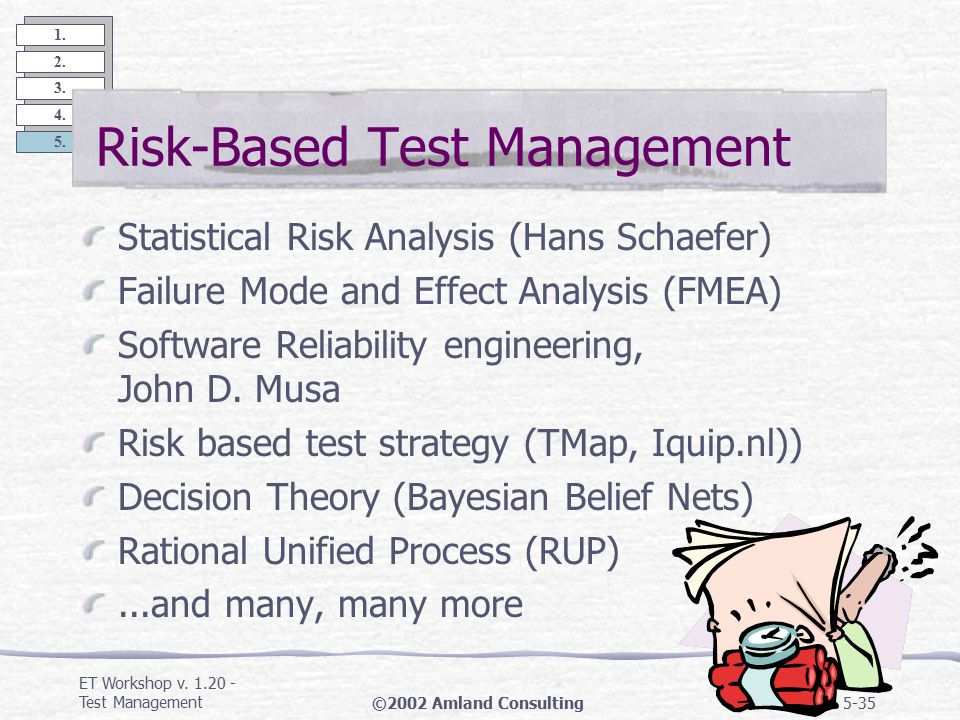 ET Workshop v. 1.20 - Test Management©2002 Amland Consulting5-34 1.