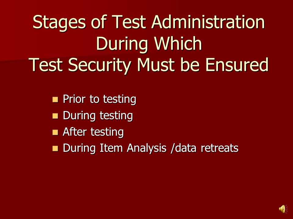Consequences of Test Security Violations Invalidation of test results for individual students or groups of students.