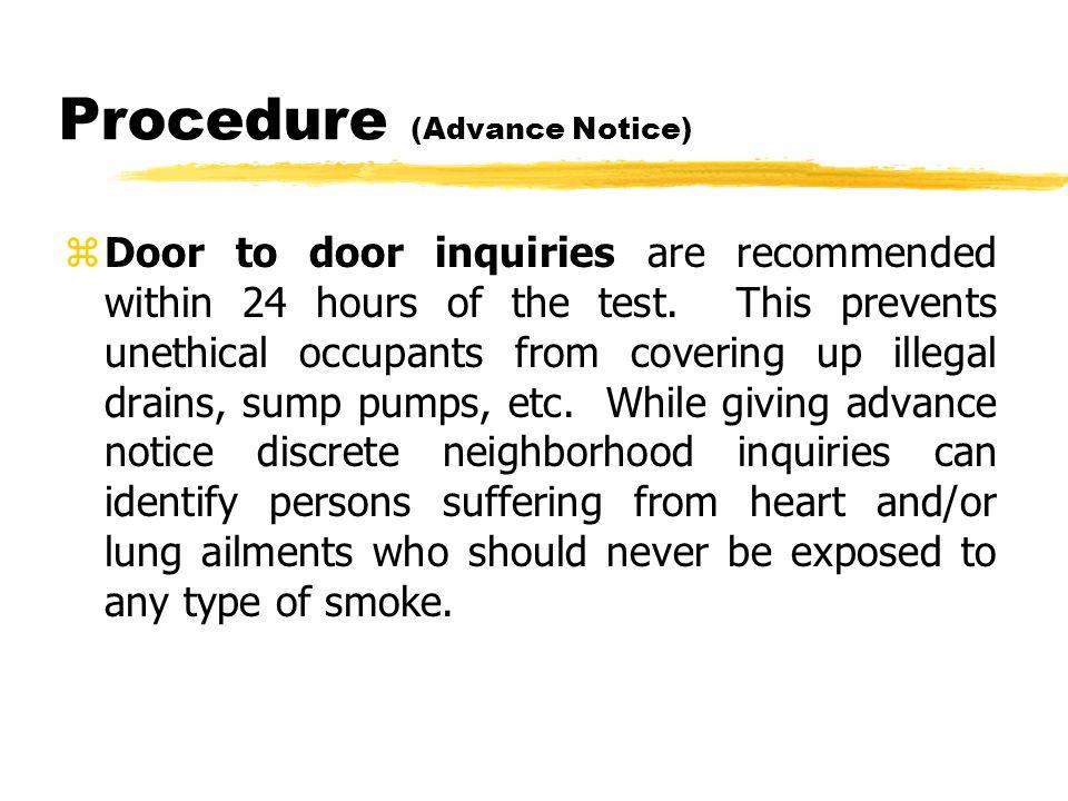 Procedure (Advance Notice) Sample Advance Notice Leaflet.
