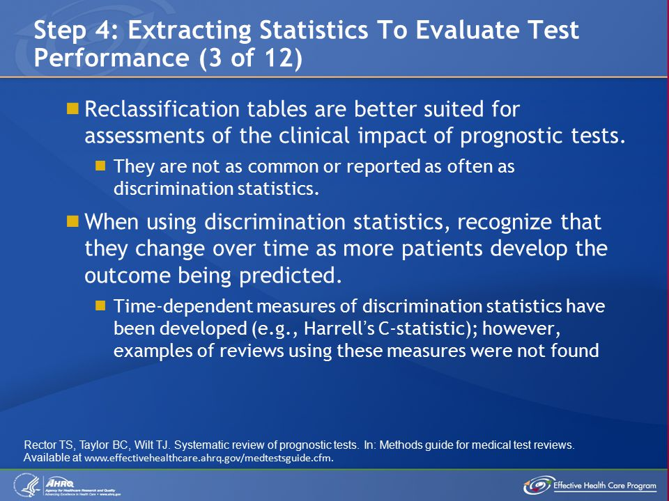  Reclassification tables are better suited for assessments of the clinical impact of prognostic tests.