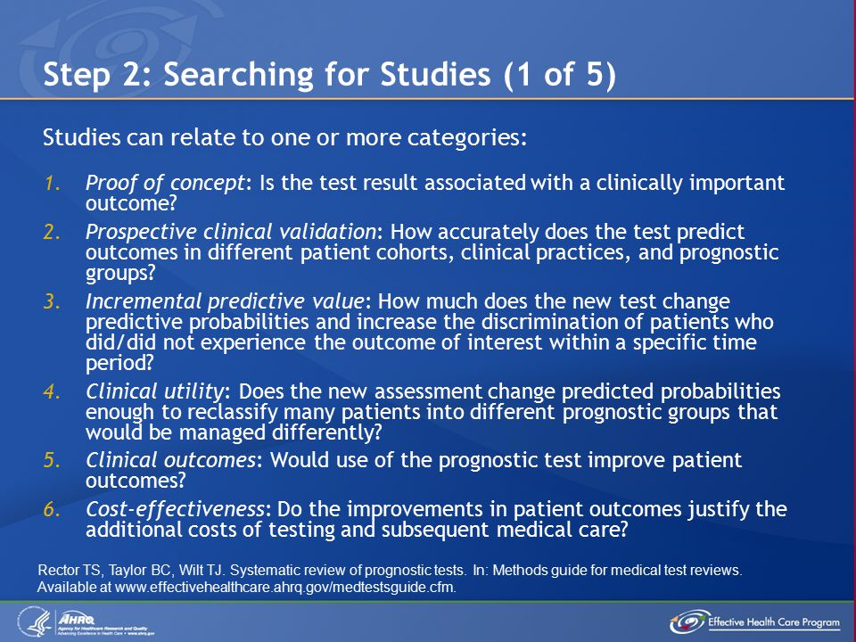  The first four categories are most readily addressed by large cohort studies and secondary analyses of clinical trials.