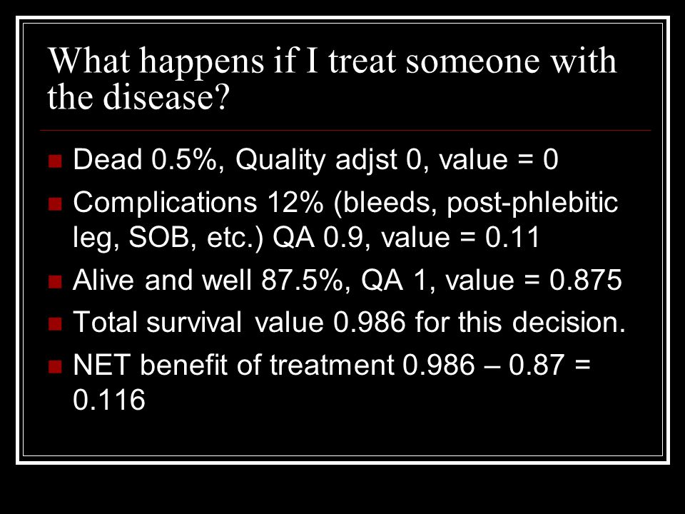 What happens if I treat someone with the disease.