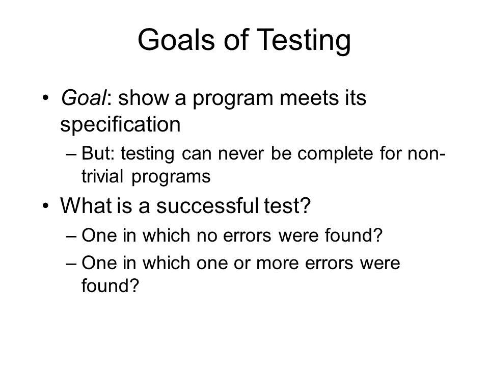 Test Planning