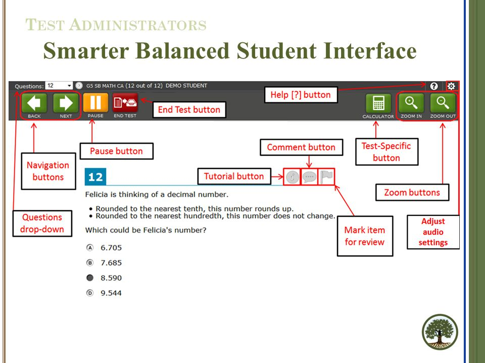 Smarter Balanced Student Interface T EST A DMINISTRATORS