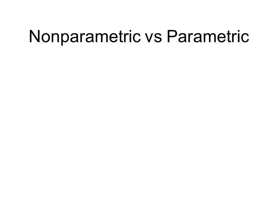 Nonparametric vs Parametric