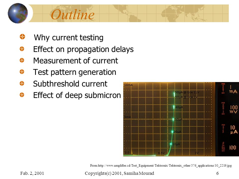 A NAND Tree Measurement requires the current settling down The effect of the delays shown on the next slide