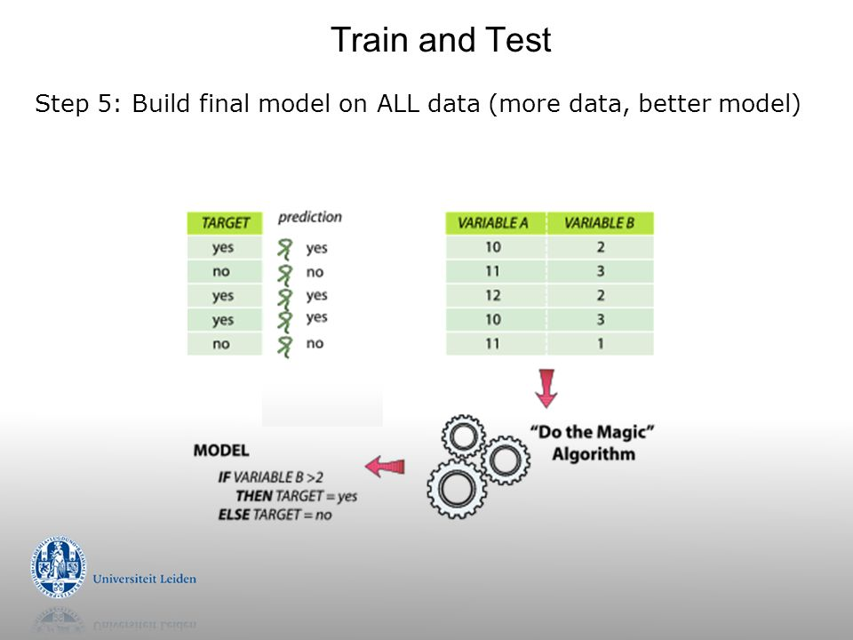 Step 5: Build final model on ALL data (more data, better model) Train and Test