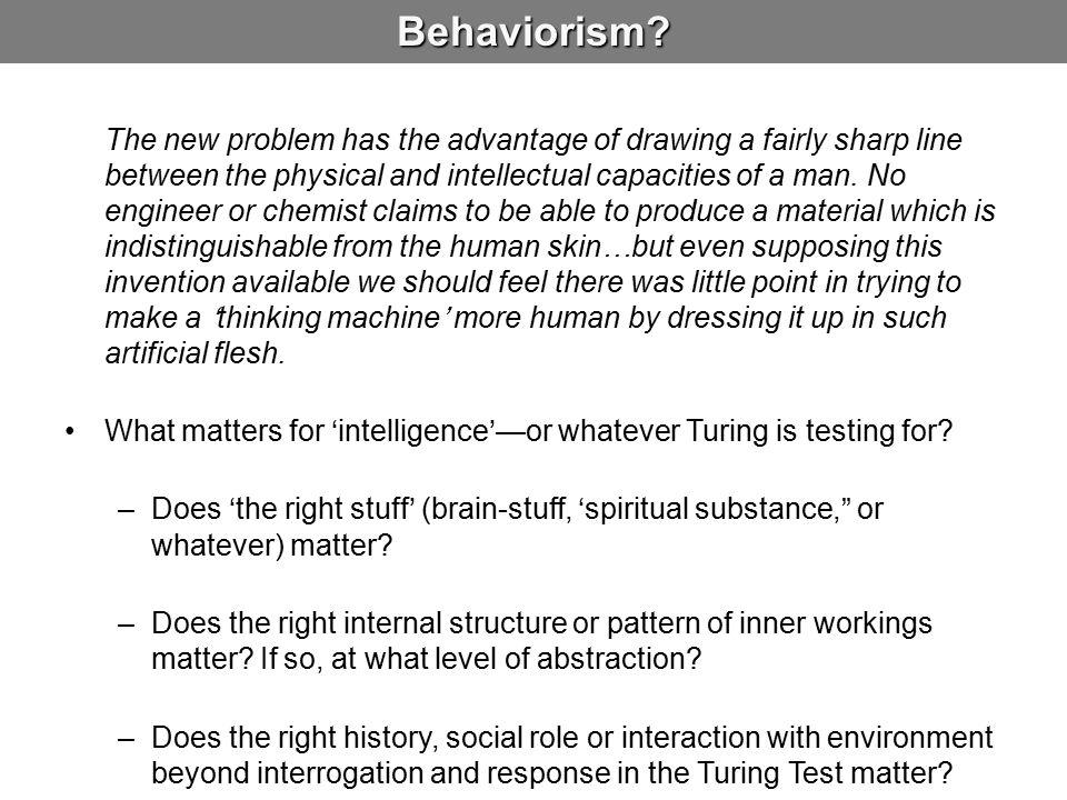 Behaviorism.