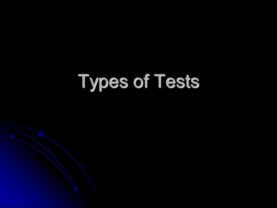 Why do we need tests? Why do we need tests?