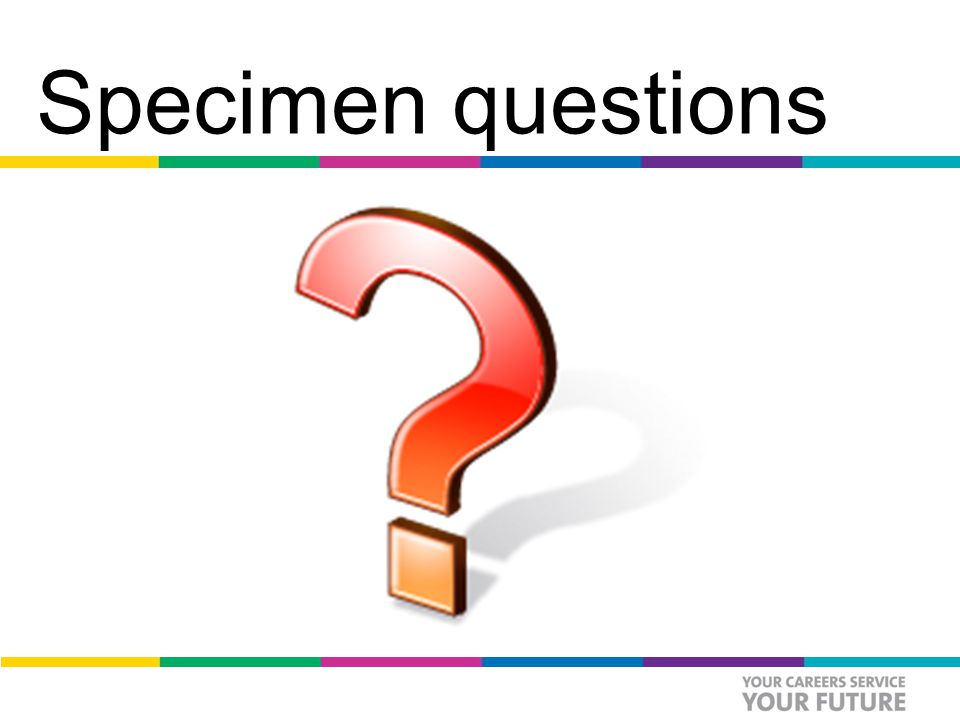 Specimen questions