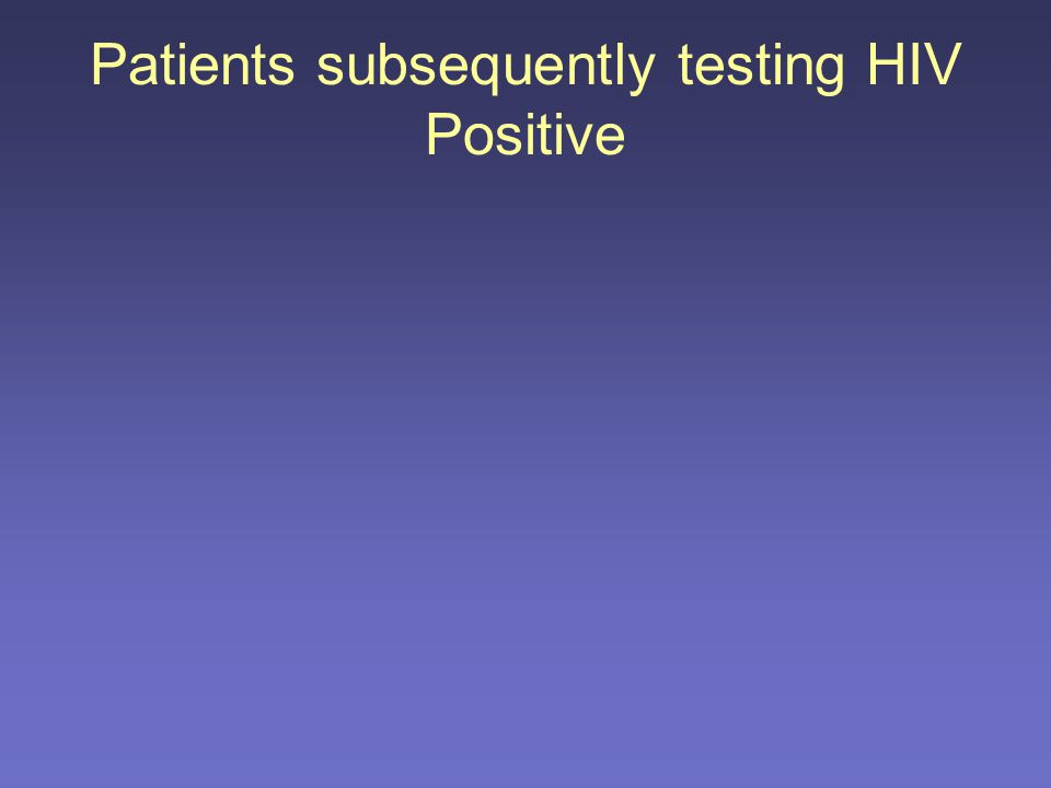 AgeRisk at AV (behaviour) EPTD / HA / reason Visits between last HIV test and AV 1 36Not high      4 prior visits Never tested 2 43High      1 visit Last test 2000 3 42Not high      Nil prior visits Last test 2003 (U) 1 visit post AV 4 45High      5 prior visits Never tested 5 24High      2 visits Last test: 2002, 2005 (U) 6 31High      No visits since last test (1 month before) and AV 7 39Not high      2 visits Last test 2002 (U) 1 visit post AV