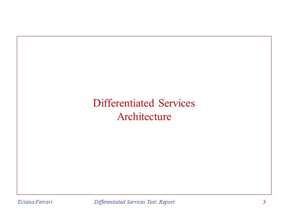 Tiziana Ferrari Differentiated Services Test: Report4 Differentiated services Why diffserv.