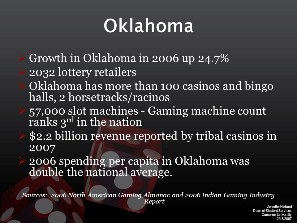Jennifer Holland Dean of Student Services Cameron University 12/13/2007 Rates of Problem Gambling by Age Sources: Carlson & Moore, 1998; Shaffer & Hall, 2001; Moore, 2001; Volberg, 2001