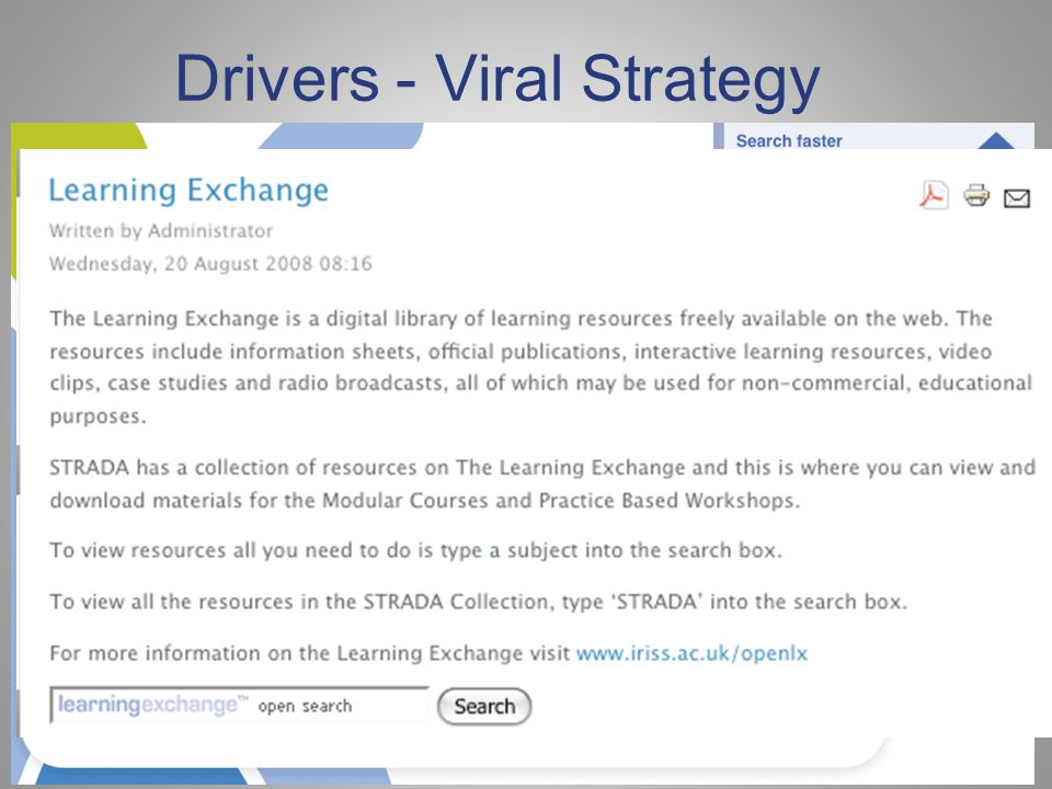 Drivers - Viral Strategy